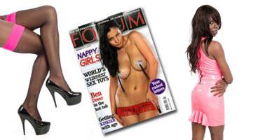 Erotic photos in Forum magazine