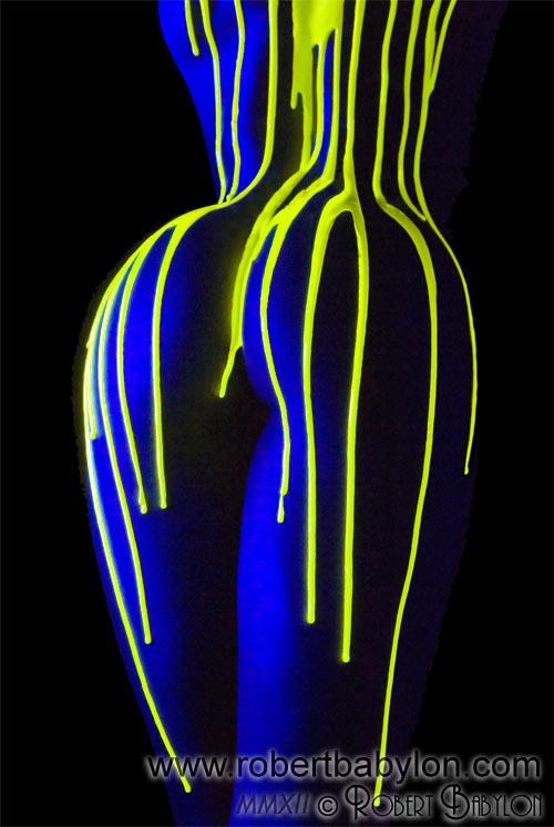 Fluorescent Paint Uv Neon Black Light Photographs