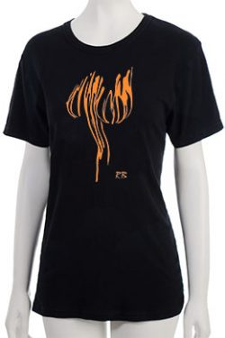 """Lava Globes"" T-Shirt - Orange"